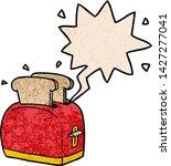 cartoon toaster toasting bread... | Shutterstock .eps vector #1427277041