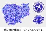 airplane vector cambodia map...   Shutterstock .eps vector #1427277941