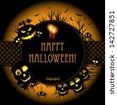 halloween card or background. | Shutterstock . vector #142727851