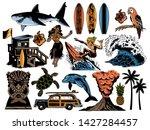 summer paradise surfing vintage ... | Shutterstock .eps vector #1427284457
