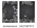 ashwagandha hand drawn border...   Shutterstock .eps vector #1427287571