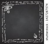 ashwagandha hand drawn border...   Shutterstock .eps vector #1427287574