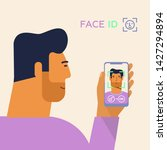 identity verification. face...   Shutterstock .eps vector #1427294894