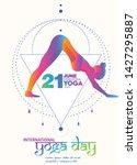 international yoga day vector... | Shutterstock .eps vector #1427295887