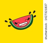 artoon watermelon crying with... | Shutterstock .eps vector #1427321837