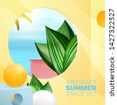 vector summer exotic travel... | Shutterstock .eps vector #1427322527