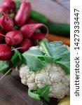 vertical cauliflower and radish ...   Shutterstock . vector #1427333447