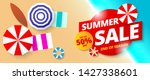 summer sale banner template...   Shutterstock .eps vector #1427338601