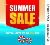 summer sale banner template...   Shutterstock .eps vector #1427338607