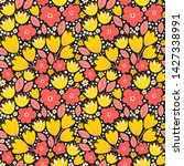 floral seamless pattern with... | Shutterstock .eps vector #1427338991