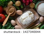 flat lay rustic farmer...   Shutterstock . vector #1427340044