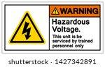 Warning Hazardous Voltage...