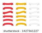 banner ribbon vector set....   Shutterstock .eps vector #1427361227