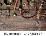 copper singing bowl  prayer...   Shutterstock . vector #1427365637