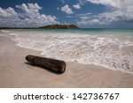 beach of anse trabaud ...   Shutterstock . vector #142736767