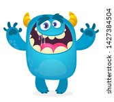 cute furry monster cartoon.... | Shutterstock . vector #1427384504