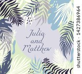 wedding invitation with floral  ... | Shutterstock .eps vector #1427386964