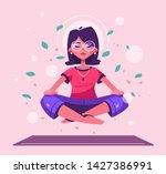 meditation health benefits for...   Shutterstock .eps vector #1427386991
