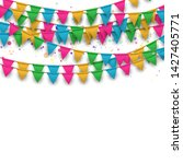 vector carnival background with ... | Shutterstock .eps vector #1427405771