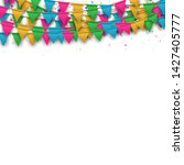 vector carnival background with ... | Shutterstock .eps vector #1427405777