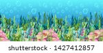underwater world background ... | Shutterstock .eps vector #1427412857