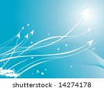 wallpaper  blue background with ... | Shutterstock .eps vector #14274178