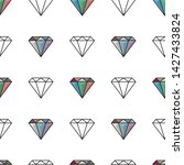 vector glamour fashion diamond... | Shutterstock .eps vector #1427433824