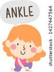 illustration of a kid girl... | Shutterstock .eps vector #1427447564