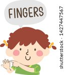 illustration of a kid girl... | Shutterstock .eps vector #1427447567