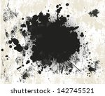 grunge background with halftone | Shutterstock .eps vector #142745521