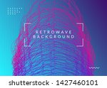 trance event. dynamic fluid... | Shutterstock .eps vector #1427460101