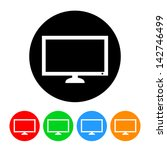 flatscreen tv icon | Shutterstock .eps vector #142746499