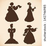 brown isolated women... | Shutterstock .eps vector #142746985