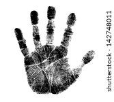 hand print | Shutterstock .eps vector #142748011