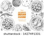 Indian Food Illustration. Hand...