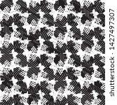 grunge halftone black and white ... | Shutterstock .eps vector #1427497307
