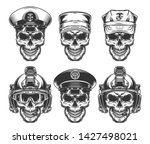 vintage military monochrome... | Shutterstock .eps vector #1427498021