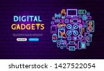 Digital Gadgets Neon Banner...