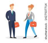 businessman and businesswoman.... | Shutterstock .eps vector #1427537714