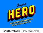 comics style font design ... | Shutterstock .eps vector #1427538941