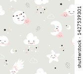 Seamless Pattern With Cute Moo...