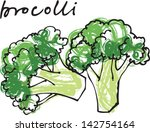 fresh broccoli vector... | Shutterstock .eps vector #142754164