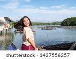 hipster young teenage traveler...   Shutterstock . vector #1427556257