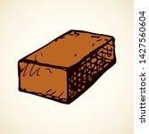 new cute single house airbrick...   Shutterstock .eps vector #1427560604