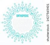 orthopedic concept. thin line... | Shutterstock .eps vector #1427565401