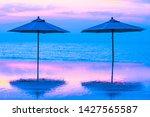 umbrella and chair around...   Shutterstock . vector #1427565587