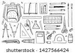 school stationery. hand drawn...   Shutterstock .eps vector #1427566424