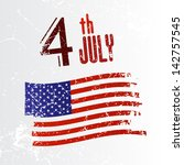 fourth of july  independence... | Shutterstock .eps vector #142757545