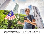 travel and technology. young...   Shutterstock . vector #1427585741