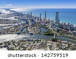 aerial view of surfers paradise ... | Shutterstock . vector #142759519